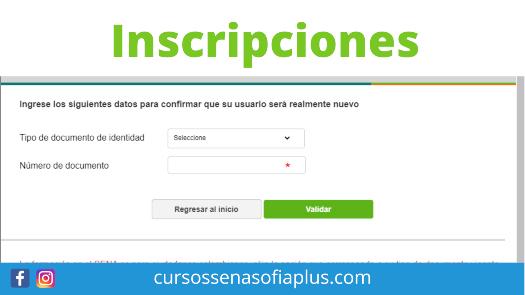 Inscripciones para cursos del Sena Sofía Plus Virtual